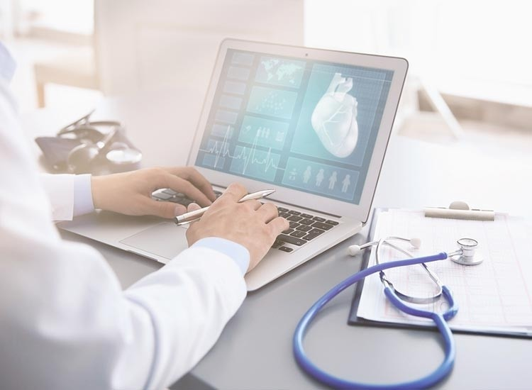Coding Audits and Provider Education Doctor Laptop